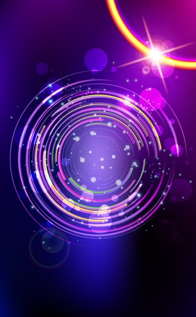 Abstract lens  flare  background  Vector illustration  Illustration