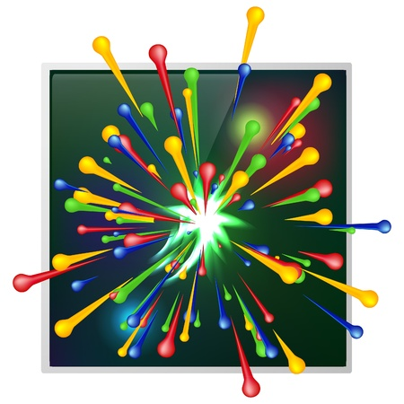 Abstract background of explosion paint illustration