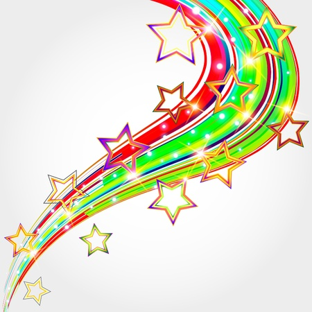 Bright abstract background with stars illustration  Illustration