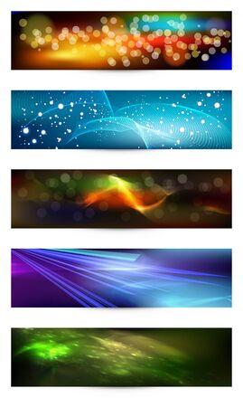 elegant iridescent banners