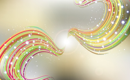 Abstract background with bent lines Stock Vector - 13029589