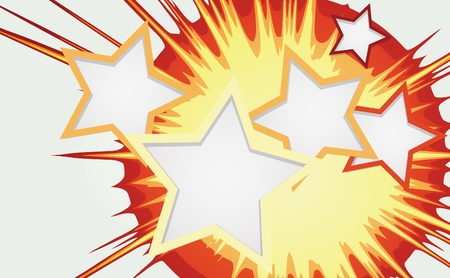 Abstract background of color star burst