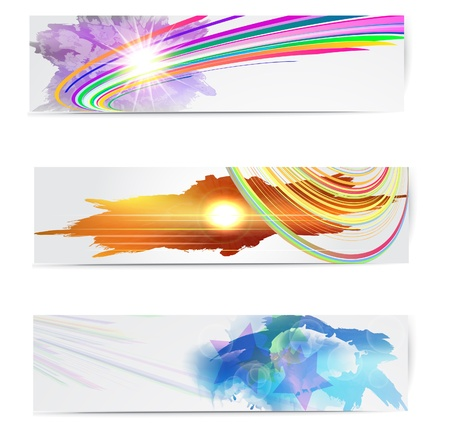 Abstract trendy banner or header set