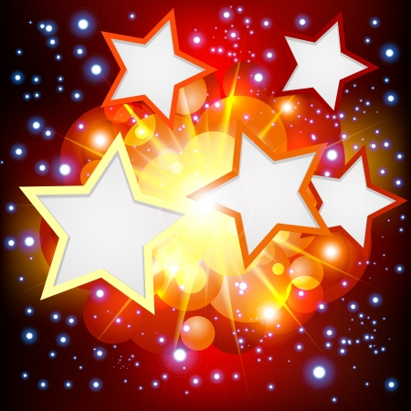 Brightly   Explosion Background with many stars  Vector illustration  Vectores