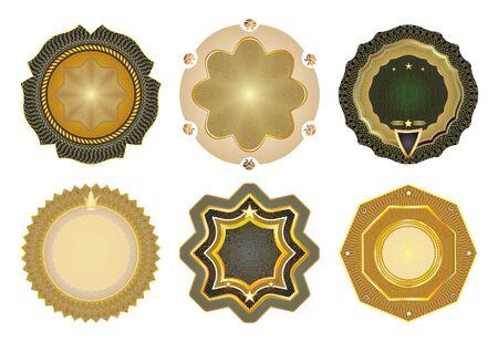 Set of vector gold-framed labels-Premium design elements  Stock Vector - 13626615