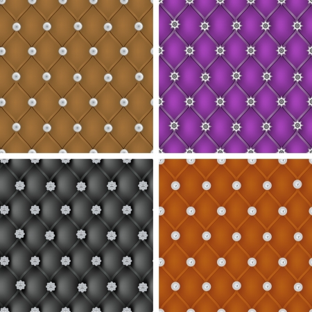 Set of  vector upholstery seamless pattern  Vector