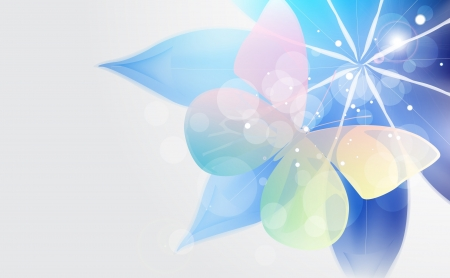 Abstract bright background with flower and butterfly  Vector illustration  Vector
