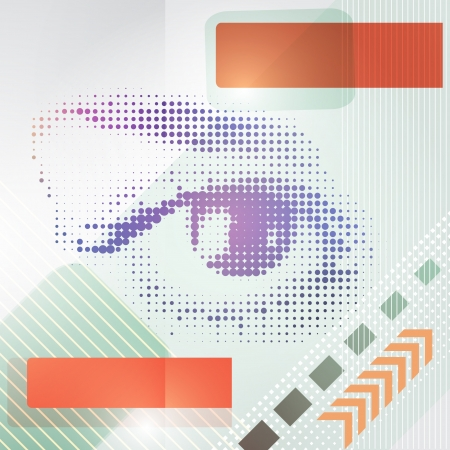 Abstract techno background with a human eye illustration