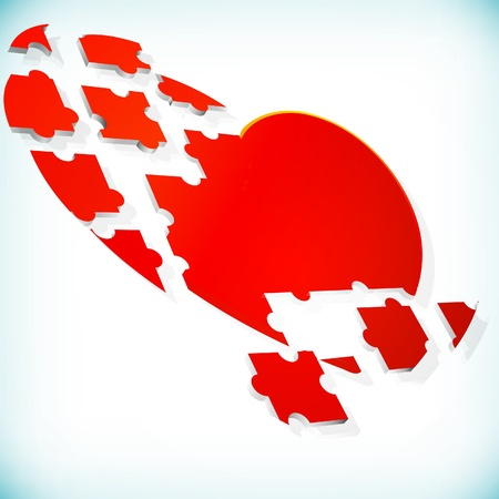 abstract background with puzzle heart  Vector