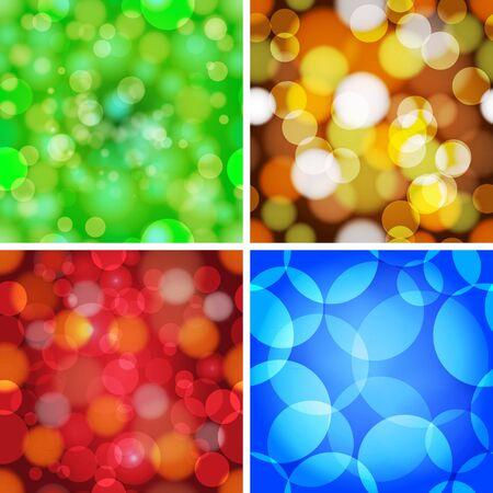 Set of abstract circles seamless vector pattern Stock Vector - 14167111