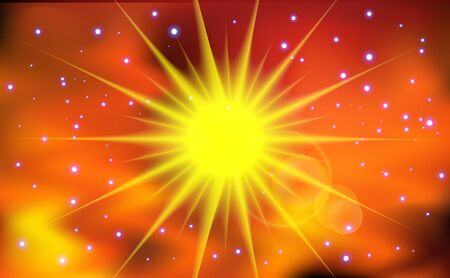 Abstract sun light background  Vector illustration