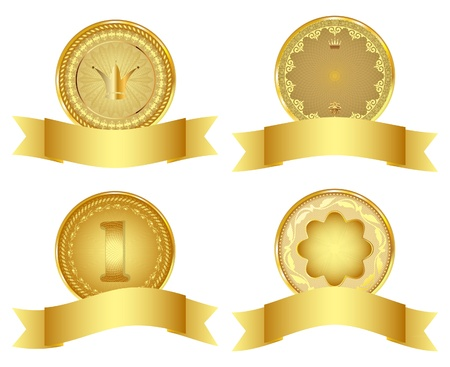 Set of golden vector design elements