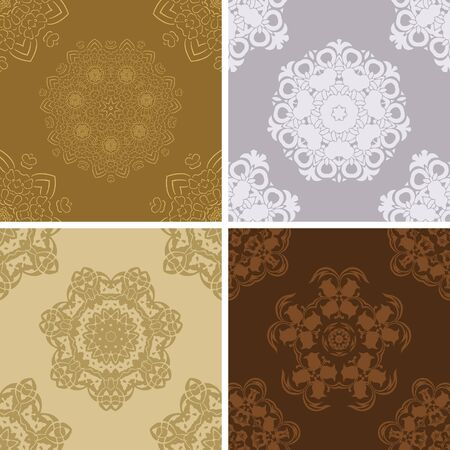 Set of vector seamless vintage pattern   Vector