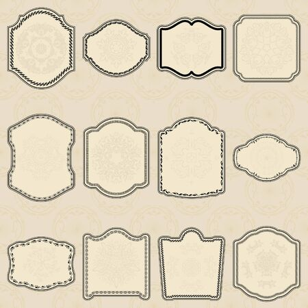 Set of design elements- vector vintage labels  Illustration