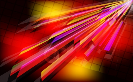 Abstract techno  background  with light effect