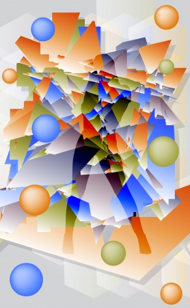 futuristic girl: Abstract futuristic   background with geometric shapes and  girl silhouette