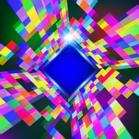 virtual space: Astratto spazio virtuale sfondo vettoriale