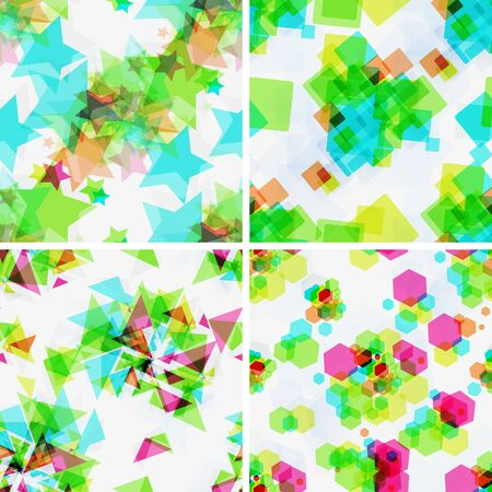 Set of vector  modern seamless patterns  Stock Vector - 16269797