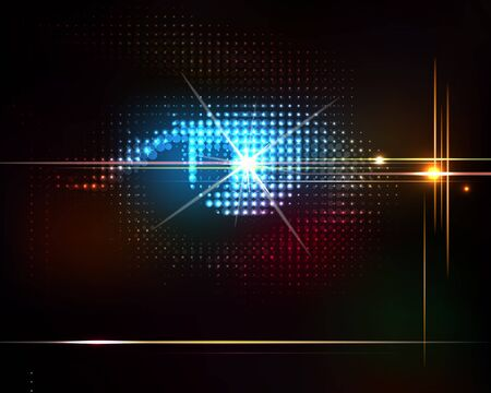 Abstract shiny vector technology trendy background Stock Vector - 16269813