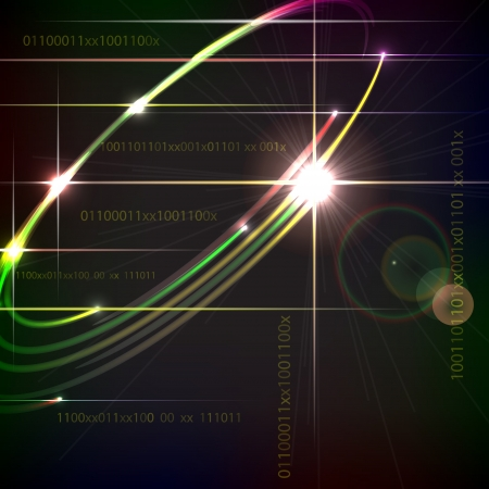 Design technology trendy background with the digital elements  Vectores