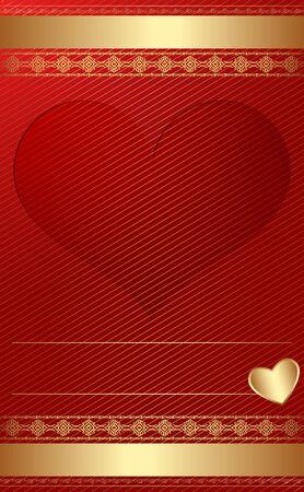 romanticismo: D'oro modello vintage con cuore
