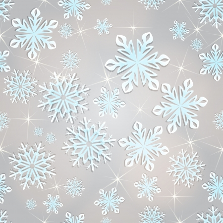 Seamless snowflakes vector background for winter and christmas theme   Vector
