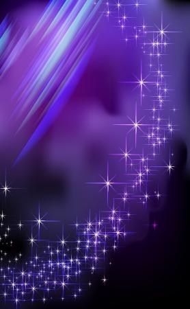 Blue Fantasy star background - illustration