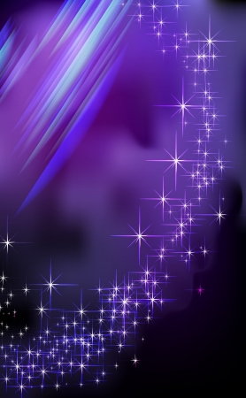 Blue Fantasy star background - illustration  Vector