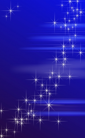 Blue Fantasy star background - vector illustration  Stock Vector - 17310628