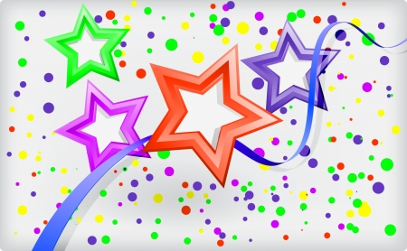 Abstract holiday background with stars and confetti Stock Vector - 17532194