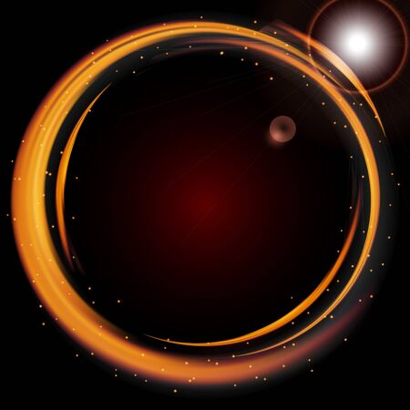 Abstract background-Ring of Fire Illustration on dark background for design