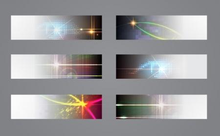 Set of six  dark banners  Stock Vector - 18223522