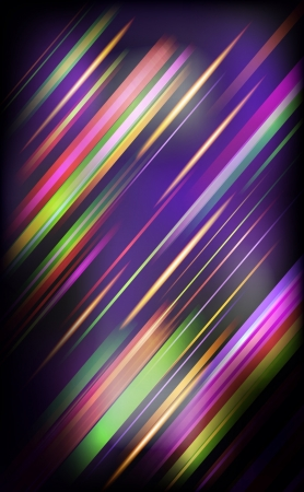 Striped abstract design on dark background  illustration