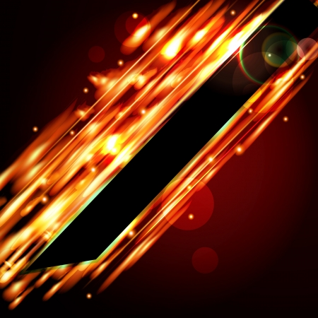 Fiery  background with free space for your text