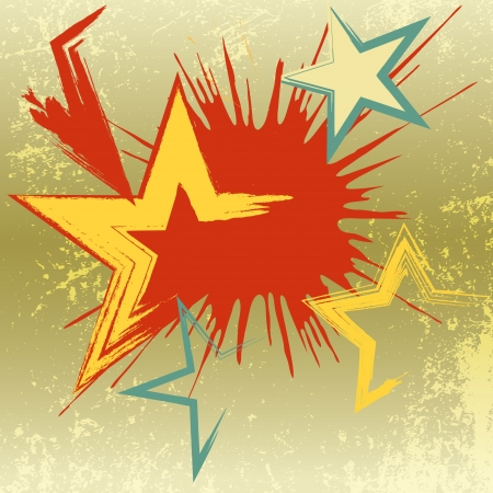 Grunge background of explosion star  illustration   Vector