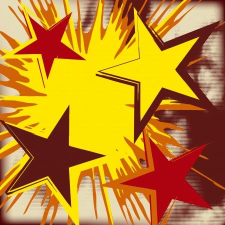 Grunge background of explosion star  Vector illustration
