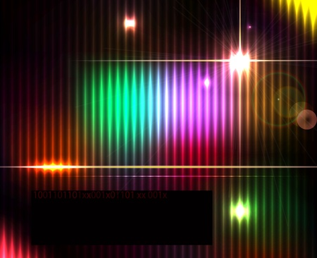 Dark abstract shiny technology spectrum background. Stock Vector - 20697299