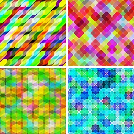 Set of vector seamless geometric pattern Illustration
