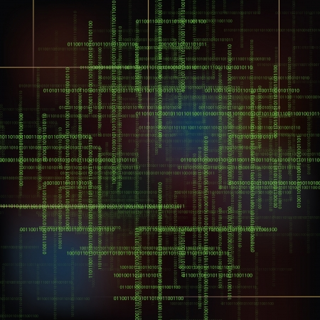 Abstract vector technology background with  binary code.