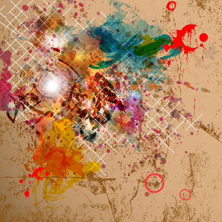 Abstract vector background with grunge design