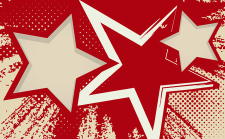 Vector grunge background with stars
