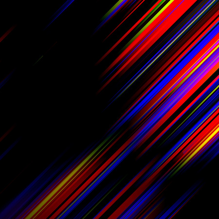 Striped abstract design on dark background  Vector illustration