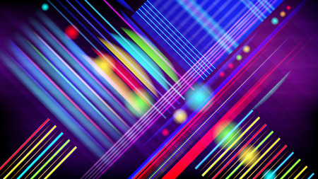 Abstract vector technology-style  background  with light effect.  Illustration