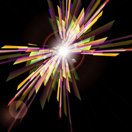 Abstract vector background  with  light burst.