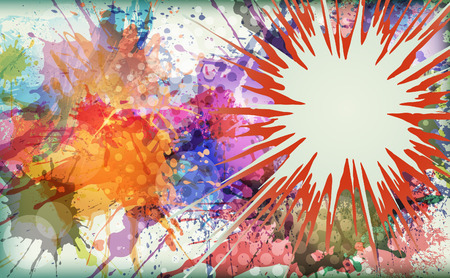 Watercolor explosion - abstract . Vector illustration.  Illustration