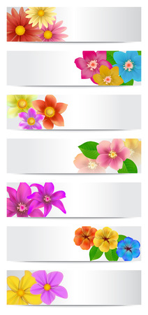 Set of floral banners. Vector illustration.