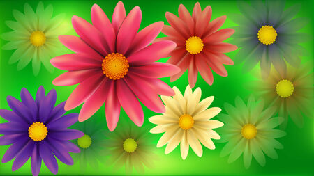 Vector Blur flowers abstract background   Illustration