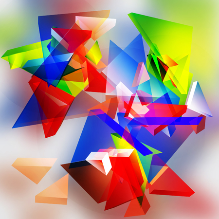 Abstract 3d vector triangular background. Vector