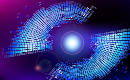 fondo tecnologia: La tecnolog�a de fondo el espacio virtual abstracto. Ilustraci�n del vector. Vectores