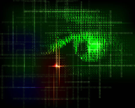 bytes: Abstract  technology trendy vector background with  binary code.